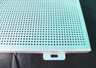 Durable Washable Aluminum Wall Panels , Perforated Corrugated Metal Ceiling Panels