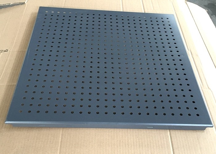 Grey Color Clip Perforated Metal Ceiling , Perforated Acoustic Panels Dia 3.0mm