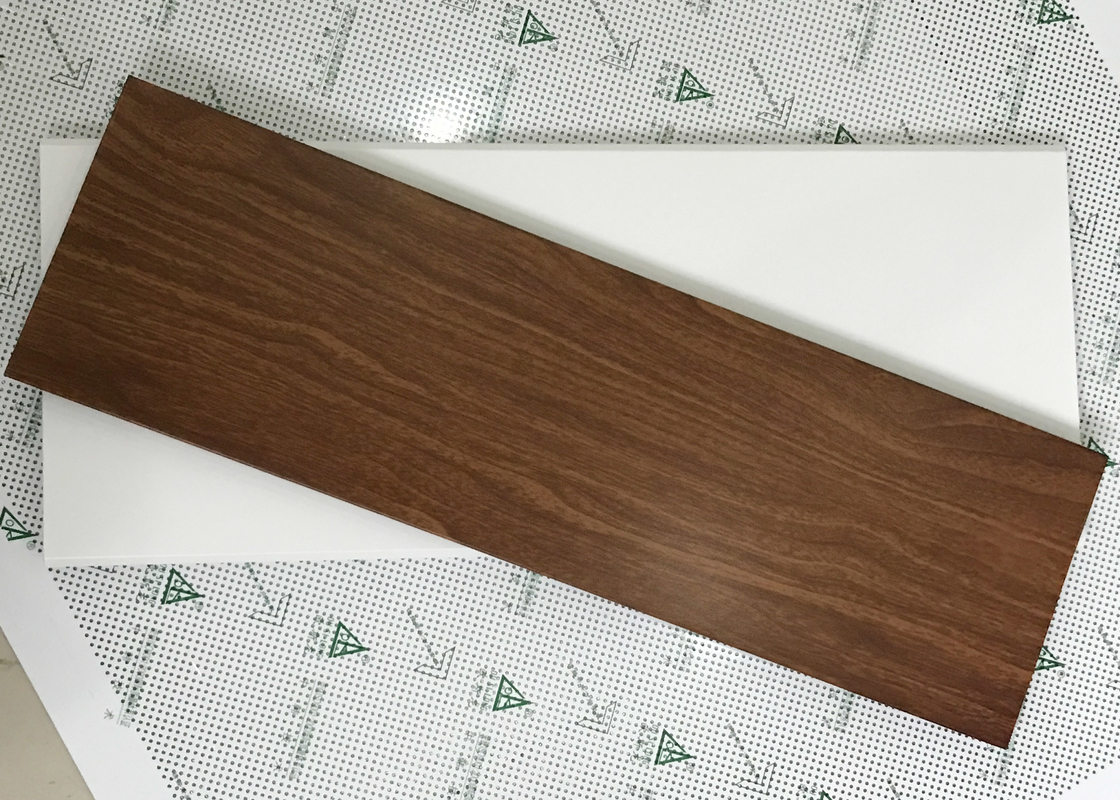 Exterior Soffit Metal Ceiling System C - Shaped Wood Grain Suspended Ceiling Tiles