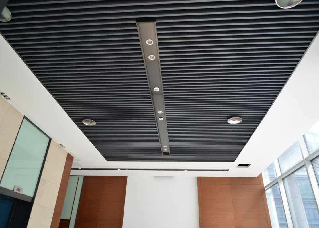 Artist Aluminum Alloy Commercial Ceiling Tiles / Square Tube Screen Ceiling Tiles Waterproof