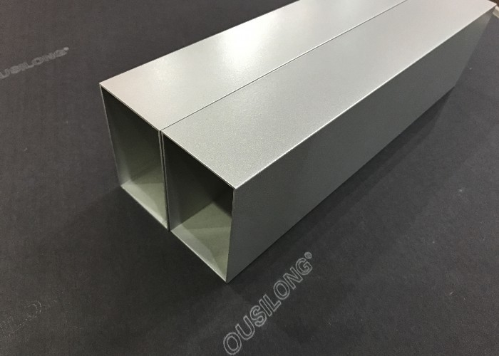 Decorative Square Aluminium Baffle Ceiling Customized Thickness