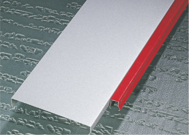 Decorative Hook - on Aluminium Strip Ceiling Rectangle For hotel residential ceiling
