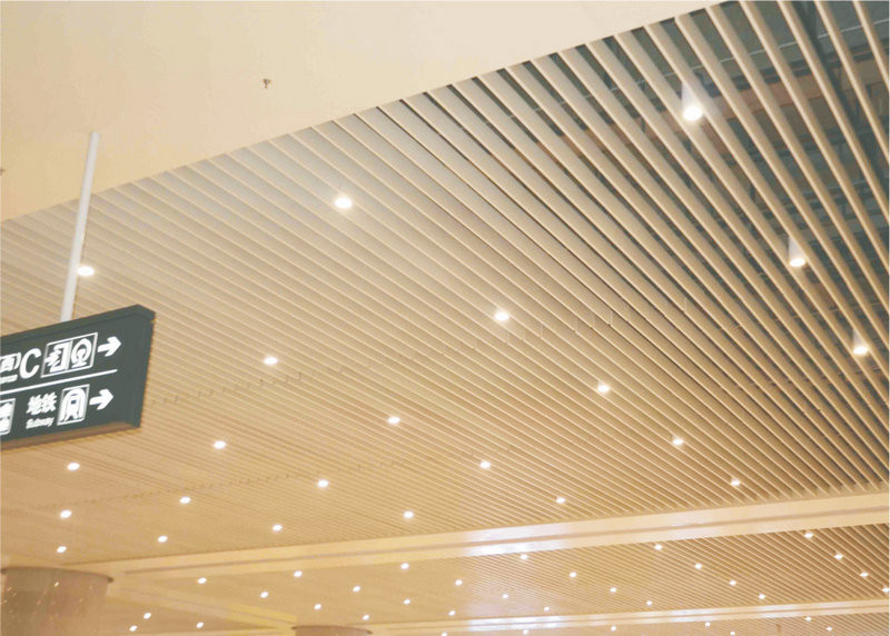 Exhibition Hall Acoustical Ceiling Tiles Suspended , 0.8mm - 1.2mm Thickness