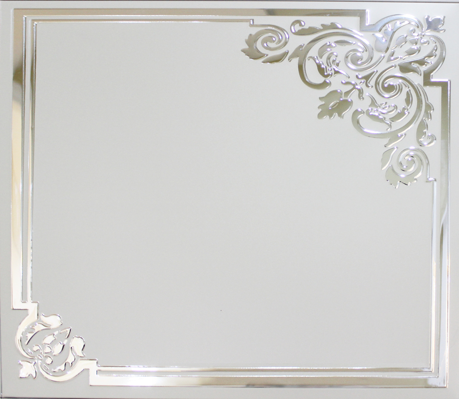 Mirror Aluminum with Printing , Artistic Ceiling Tiles for Living Room Decoration