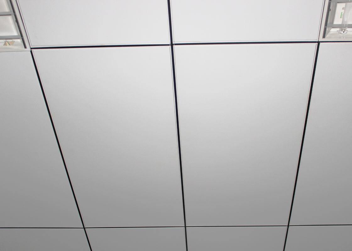 Aluminum Open Grid Lay In Deco Suspended Ceiling Tiles / Commercial Center Ceiling Panels
