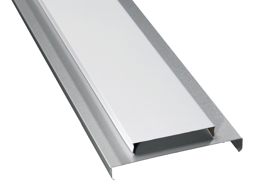 Decorative Aluminium Strip Ceiling U 15 , U 85 , U 135 Galvanized Steel Chanel Carrier