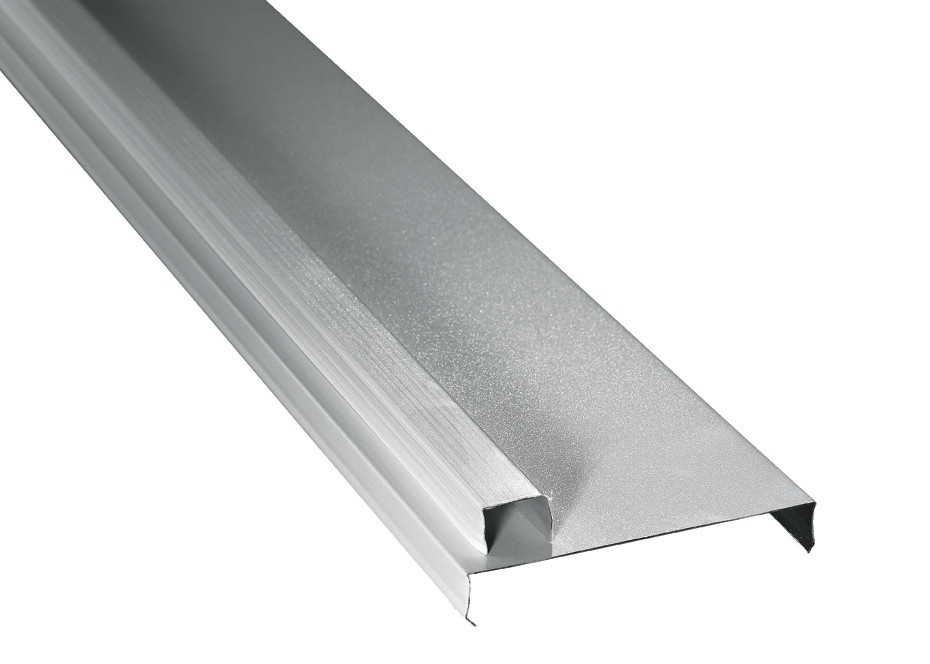 Simple and Structured Aluminium Strip Linear Ceiling , Corrosion and Abrasion Resistance