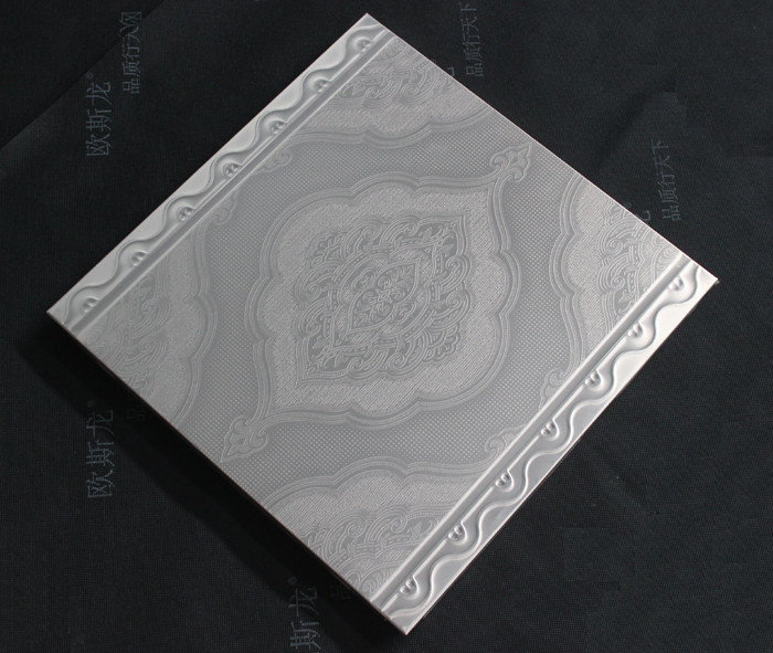 Home Decoration Artistic Ceiling Tiles Suspended 350 x 350mm